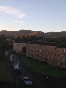 The view of the Pentland's can be rather distracting at times.